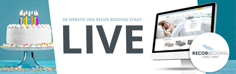 Webwinkel voor Recor dealers staat live