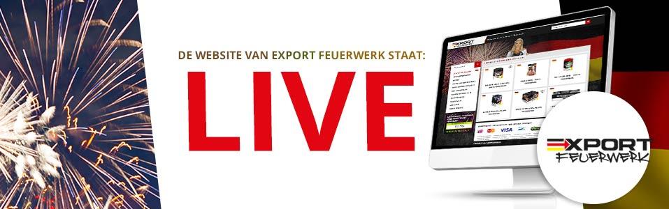 Webwinkel voor Export Feuerwerk staat LIVE