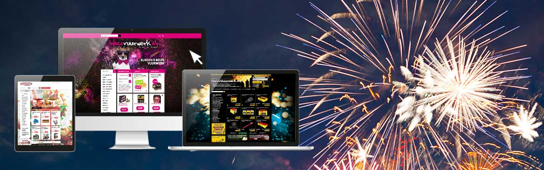 Media Solutions bouwt de allersnelste vuurwerk webwinkels