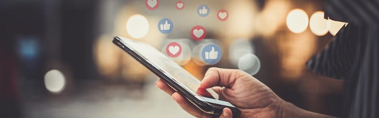 Stijgers en dalers, Instagram en social media.