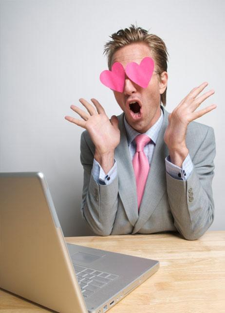 Per email flirten