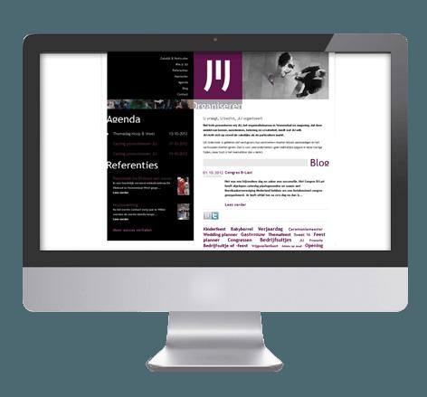 Persoonlijk en opvallend webdesign voor JIJ Organiseren