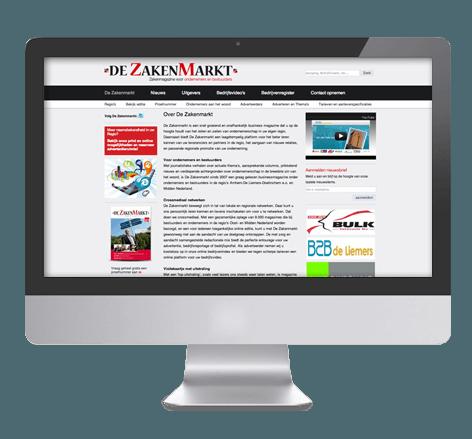 Zakelijke website voor De zakenmarkt
