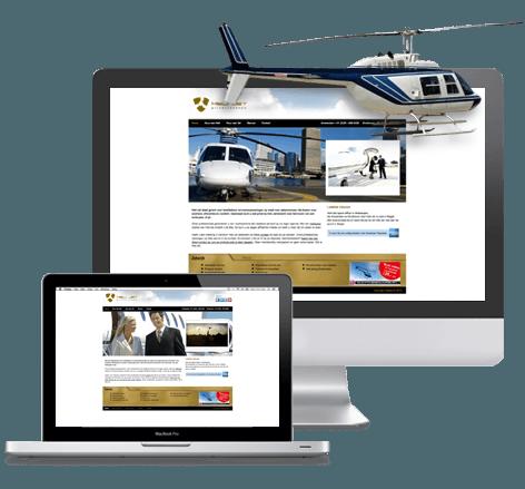 Imago en webdesign voor Heli Jet