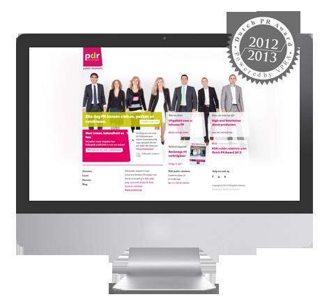 Modern webdesign voor PDR public relations