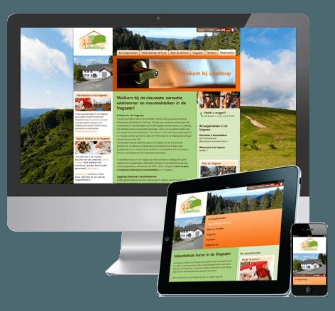 Webdesign en huisstijl voor vakantie accommodatie