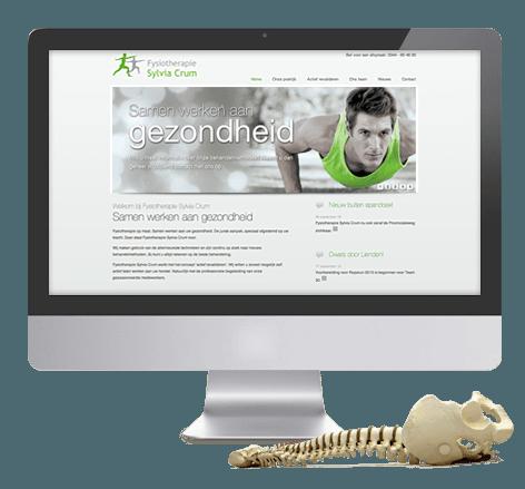Modern webdesign en imago voor Fysiotherapie