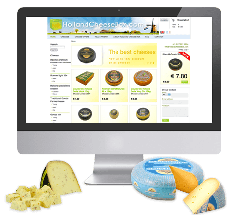 Internationale webwinkel voor kaas