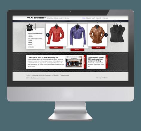 Webdesign en CMS voor Van Boordt Lederwaren