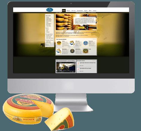 Website ontwikkeling voor Van der Heiden Kaas