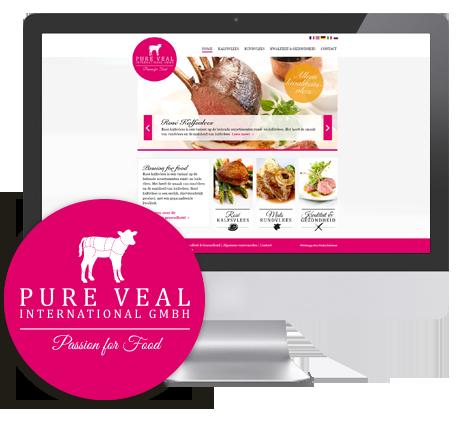 Webdesign, logo & huisstijl ontwerp voor Pure Veal International GMBH