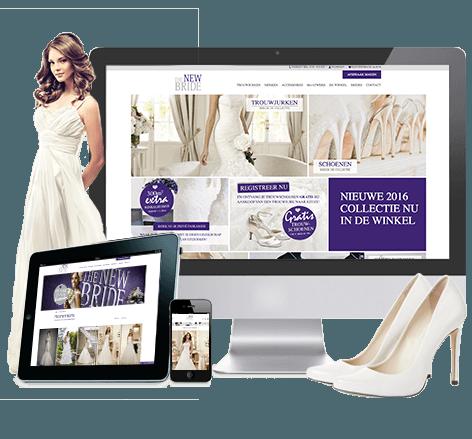 Responsive webdesign voor The New Bride Bruidsmode uit Barneveld