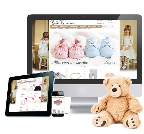 Responsive webwinkel voor Bella Bambina