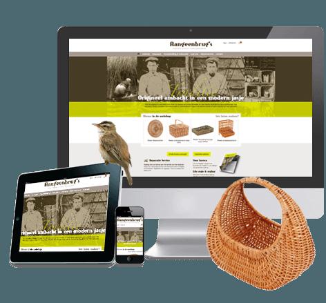 Responsive webshop voor Aangeenbrug's Mandenmakerij en Rotanmeubelfabriek