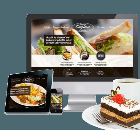 Responsive website voor Brasserie Souplesse
