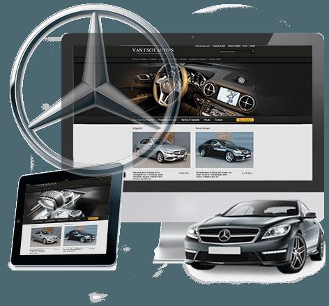 Schitterend webdesign autobedrijf