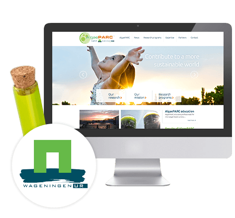 Website AlgaePARC (Wageningen UR)