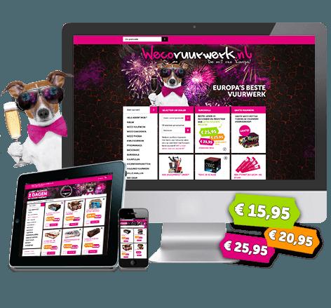 Responsive webwinkel voor Wecovuurwerk