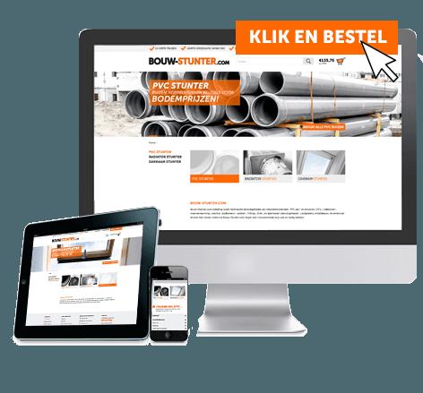 Responsive webshop voor Bouw-Stunter