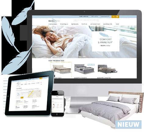 Responsive webwinkel voor Recor Bedding