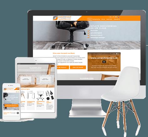 Responsive webshop voor Scratch No More