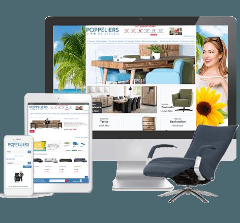 Responsive webdesign Poppeliers Meubelen