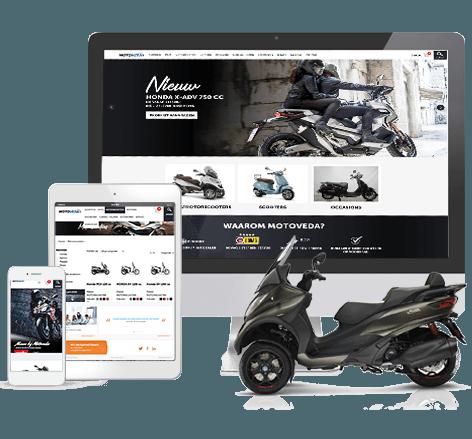 Stoere webshop voor Motoveda