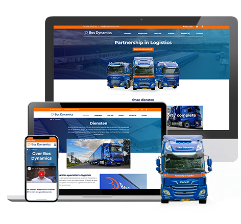 Nieuwe website voor Bos Dynamics