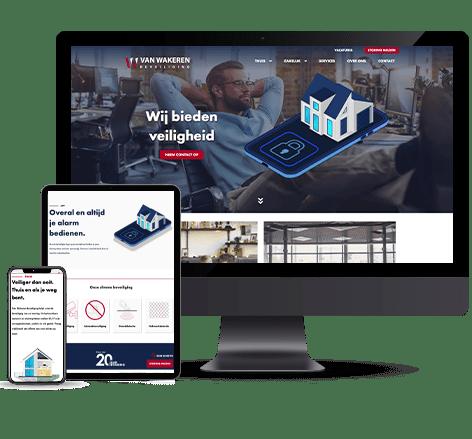 Website voor beveiligingsbedrijf