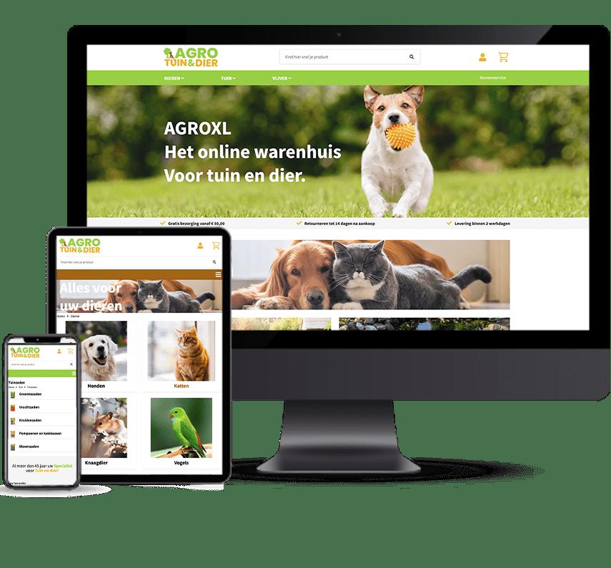 Webshop voor detailhandel in Agro